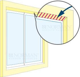 窓枠の下地は木材でなければならない。